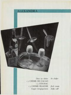 Alexandra. Marcel Pace, Nos meilleures boissons, 1954. Page 69.