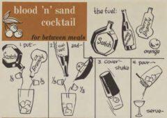 Blood 'n' Sand Cocktail. Robert H. Loeb, Jr, Nip Ahoy, 1954. Page 76.