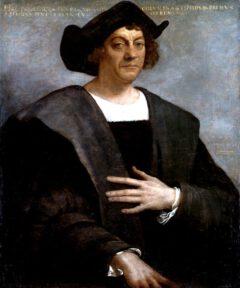 Christopher Columbus, posthumous portrait by Sebastiano del Piombo from 1519.