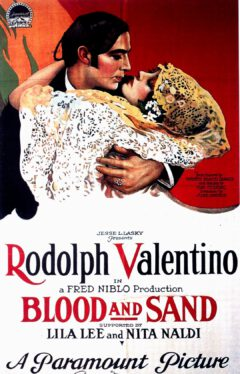 """Advertising poster for the film """"Blood and Sand"""" from 1922."""