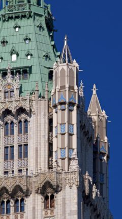 Woolworth Building - detail of the spire.