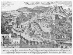 Abbildung des sehr heise warmbads von Kaiser Karolo quarto No 1509 erfunden wie es anitzo No 1652 mit absonderlichen Badstüblein erbauet.