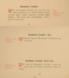 Anonymus: Cocktails. 1898, page 27-28.