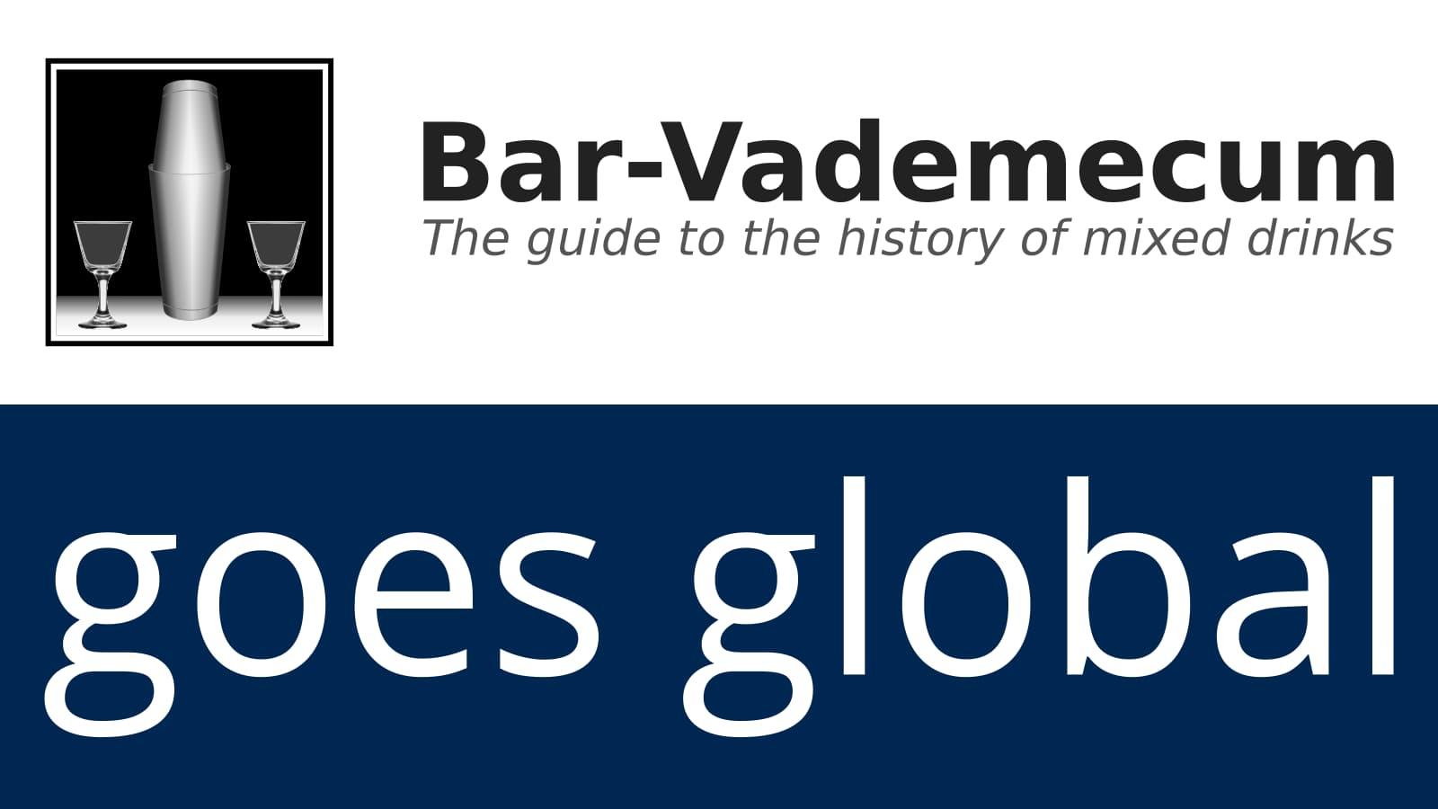 Bar-Vademecum goes global.