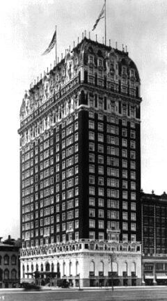 The Blackstone Hotel in Chicago in 1912.