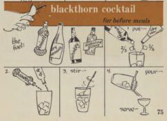 Blackthorn Cocktail. Robert H. Loeb, Nip Ahoy, 1954, page 75.