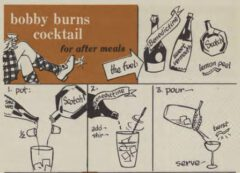 Bobby Burns Cocktail. Robert H. Loeb, Jr, Nip Ahoy, 1954. Page 77.