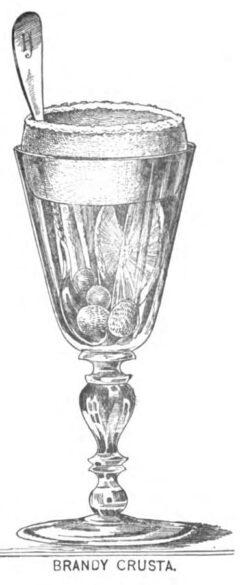 Brandy Crusta, Harry Johnson 1888, plate 5, page 48f.