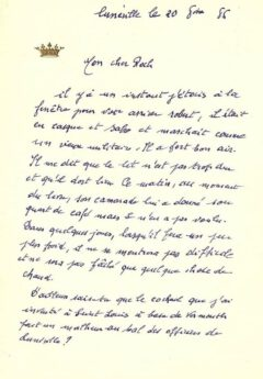 Letter by Pascal Negroni from 1886. (c) Hector Negroni.