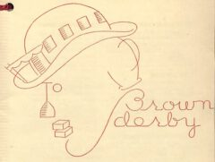 Brown Derby. Anonymus, Hollywood's Fovorite Cocktail Book, 1933, after page 16.