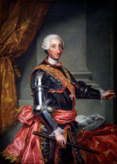 Carlos III, King of Spain, circa 1761.