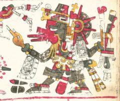 Quetzalcoatl, from the Codex Borgia.