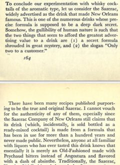 David A. Embury - The fine Art of Mixing Drinks - Page 164-165, 1948.