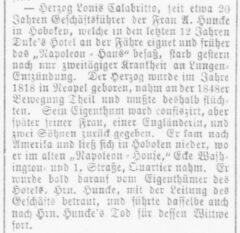 Der Deutsche Korrespondent, Baltimore, 19. March 1886.