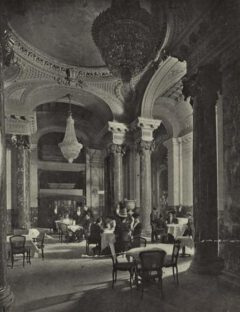 The Palm Garden at the Belmont Hotel, 1906.