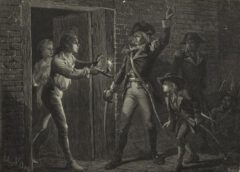 The capture of Fort Ticonderoga in 1775.