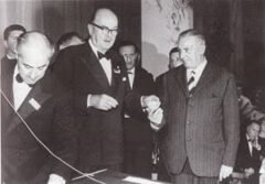Fosco Scarselli (right in the picture), 1962.