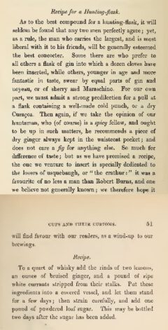 George Edwin Roberts & Henry Porter - Cups And Their Customs, 1863 - Recipe for a Hunting-flask.