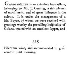 George Pinckard - Notes on the West Indies, 1806, page 324-325.
