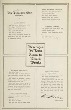 George R. Washburne & Stanley Bronner, Beverages De Luxe, 1911, page 61.