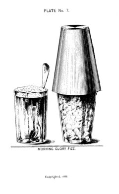 Harry Johnson, 1934, New and Improved Bartender's Manual, page 111 - Morning Glory Fizz.