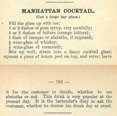 Harry Johnson: The New and Improved Illustrated Bartenders' Manual . 1900. Page 162-163.