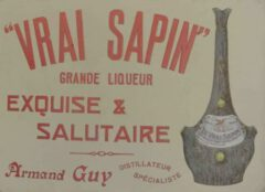 Historical advertisement of the Vrai Sapin.