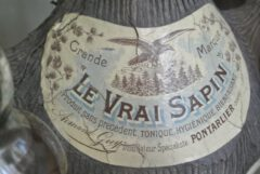 Historical label of the Vrai Sapin.