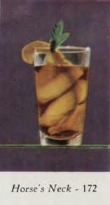 Horse's Neck. Marcel & Roger Louc, Cocktails et grand crus, 1953. Page 65.