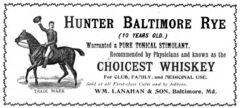 Hunter's Baltimore Rye. Harper's Weekly, 3. July 1897, page 671.