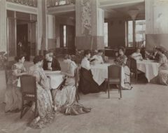 At the Belmont Hotel in 1906.