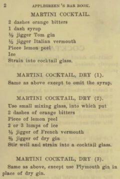 John Applegreen: Applegreen's Bar Book. 1909, page 2.