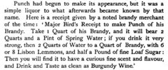 John Ashton: Social life in the reign of Queen Anne, 1882, page 202 - Major Bird's Punch.