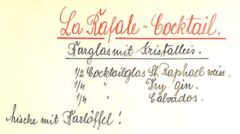 La Rafale, F. Koki, Cocktails, 1930.