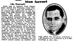 La semaine à Paris. No. 347, January 1929, page 56. Léon Ferrari.