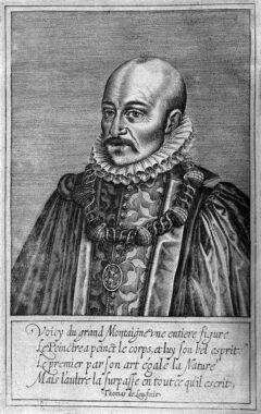 Michel de Montaigne, circa 1608.