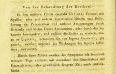 Moritz Hasper: Ueber die Natur und Behandlung der Krankheiten der Tropenländer. Erster Theil. 1831. Page 518.