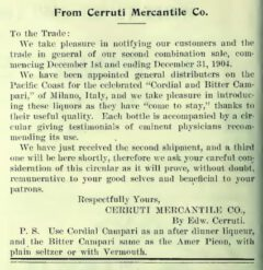 Pacific Wine & Spirit Review, Band 47, Nr. 1, 30. November 1904, page 44.