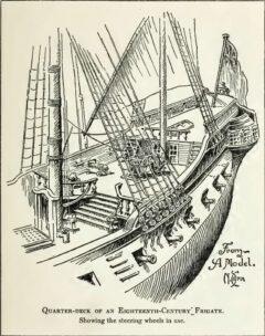 Quarter-deck of an eighteenth-century frigate.