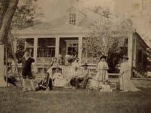 Santini House and Family, around 1880.