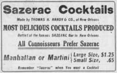 Sazerac Cocktails. Omaha Daily Bee, 30. December 1911, News Section, page 5.