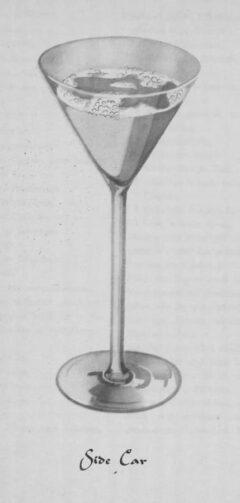 Side Car. Wilhelm Stürmer. Cocktails by William Stürmer. Page 112f.