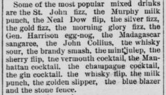 St. Paul Daily Globe, 19. September 1886, page 16 - Poems in Cocktail.