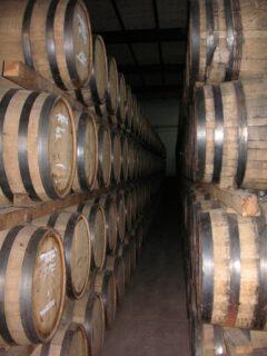 Tequila barrels.