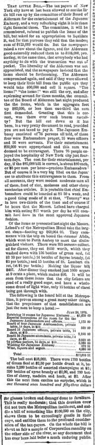 That little Bill, The Brooklyn Daily Eagle, 18. December 1860, page 2.