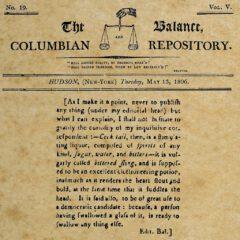 The Balance, Columbian Repository, 13. May 1806.