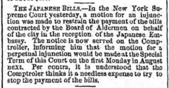 The Japanese Bills, The Brooklyn Daily Eagle, 27. July 1860, page 3.