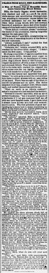 The Sun, 27. März 1887, Page 9. Pearls from Billy, the Bartender.
