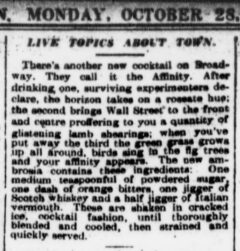 The Sun, 28. October 1907, page 4, Live Topics About Town.