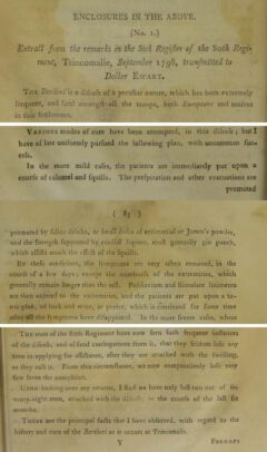 William Hunter: An Essay on the Diseases Incident to Indian Seamen, 1804, pages 82, 84, 85.